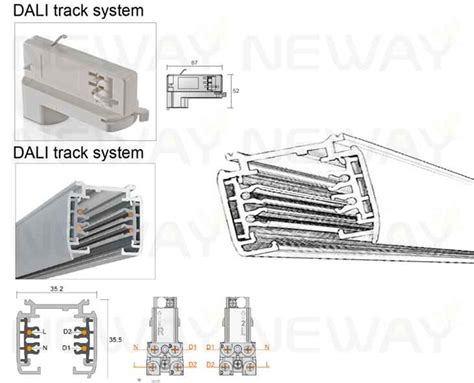 24w 36w 48w 60w led track light linear led pendant track