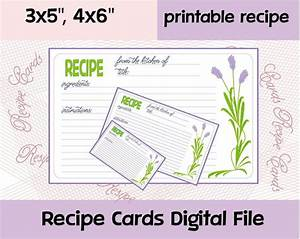 Recipe card printable editable recipe cards recipe cards for How to print on 4x6 cards