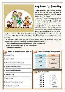 My Lovely Family Worksheet