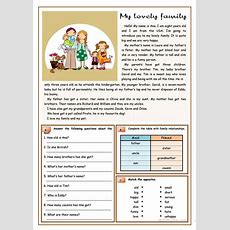 My Lovely Family Worksheet  Free Esl Printable Worksheets Made By Teachers