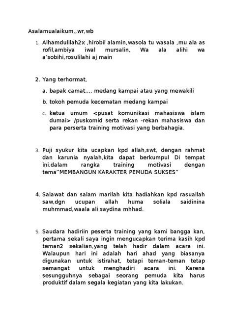 Contoh Pembukaan Berita Acara Rapat by Contoh Kata Sambutan Lomba