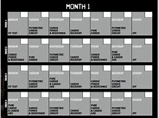 Insanity Calendar 60 Day Insanity Workout Schedule