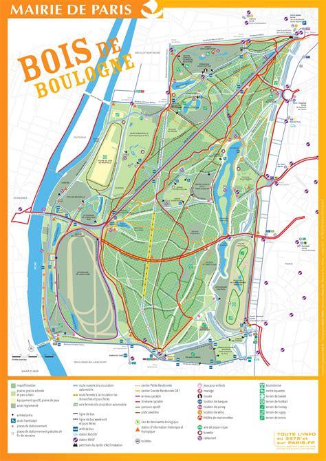 Plan Bois de Boulogne - Carte Bois de Boulogne (France)