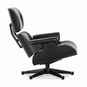 Eames Lounge Chair Replica : eames style lounge chair and ottoman black leather black ~ Michelbontemps.com Haus und Dekorationen
