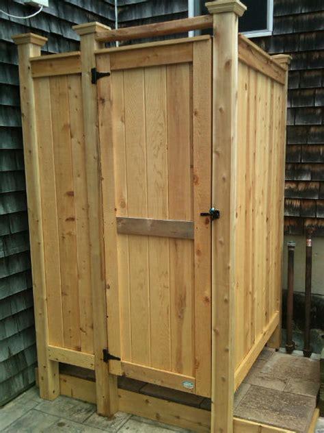 Cedar Outdoor Showers