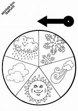 Weather Printable Kindergarten Preschool Worksheet Worksheets Seasons Coloring Crafts Template Pre Tempo Pages Activities Wheel Circle Printables Esl Clothes Kinder sketch template