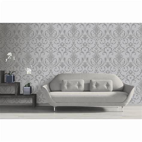 isabella damask wallpaper silver diy bm
