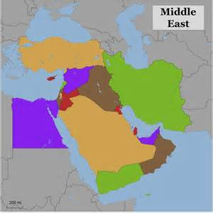 Blank Middle East Map