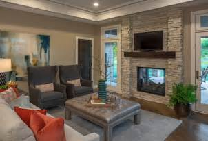 home interiors candles country walkout modern family room omaha by