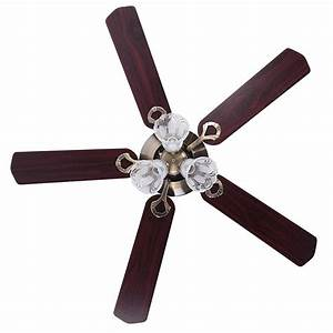 Yescom quot blades ceiling fan with light kit antique