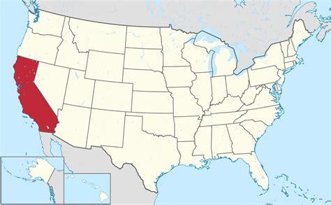 Karte Kalifornien Usa