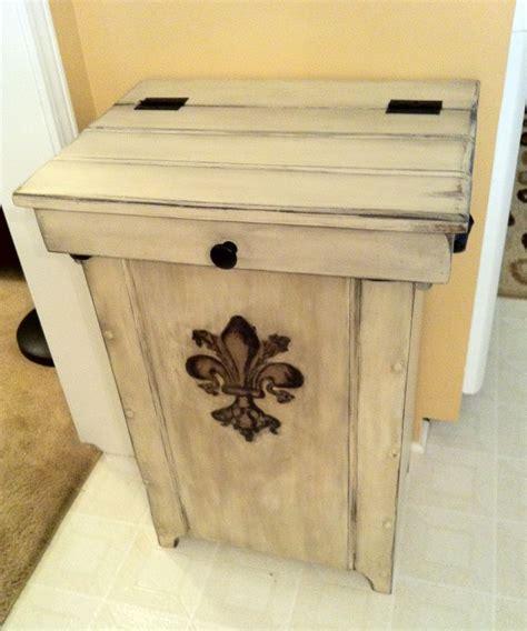 wooden trash bin plans woodworking projects plans