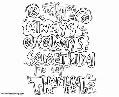 Mindset Coloring Growth Pages Something Thankful Always