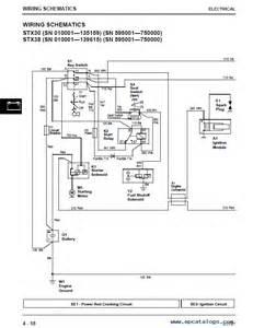 john deere stx38 yellow deck diagram stx38 yellow deck