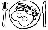 Breakfast Coloring Pages Printable Bacon Worksheet Healthy Getcolorings Clip Printablee Via sketch template