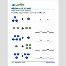 Free Preschool & Kindergarten Simple Math Worksheets  Printable  K5 Learning