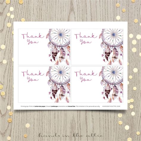 dreamcatcher baby shower invitation hands   attic