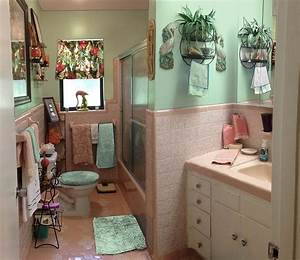 retro design dilemma paint colors or wallpaper for diane With turquoise and pink bathroom