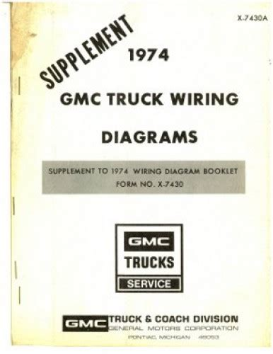 Gmc Truck Wiring Diagrams Manual Supplement Used