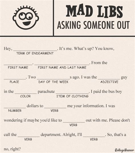 mad libs template 8 best images of printable mad libs for adults mad libs printable