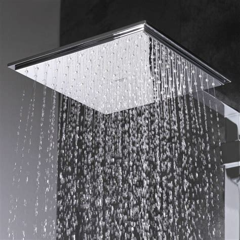 grohe euphoria cube  square rain shower head chrome