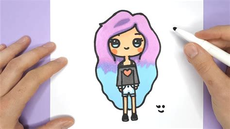 How To Draw A Cute Tumblr Girl