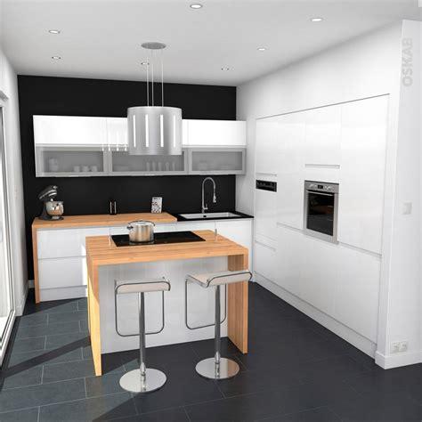 bloc cuisine avec electromenager 1000 idées sur le thème cuisine brillante blanche sur