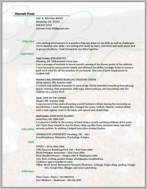 Resume Background by Resume Understated Background Impact Consulting