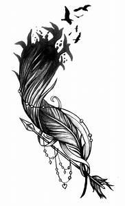 Dessin Fleche Tatouage : tatouage plume oiseaux qui s envolent cochese tattoo ~ Melissatoandfro.com Idées de Décoration