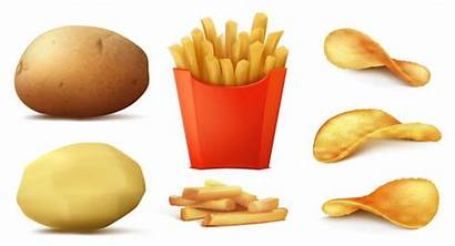 Potato Chips Fries Vector Illustration French Clipart