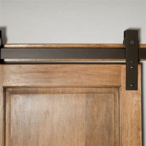 made interior barn door hardware flat track