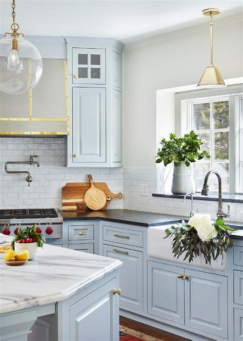 light blue kitchen accessories light blue kitchen cabinets with farmhouse sink 6958