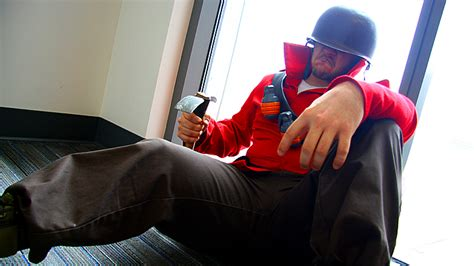 Red Soldier Cosplay Team Fortress 2 By Swoz On Deviantart