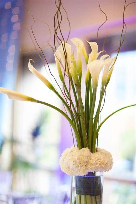 calla lily  hydrangea centerpieces added elegant