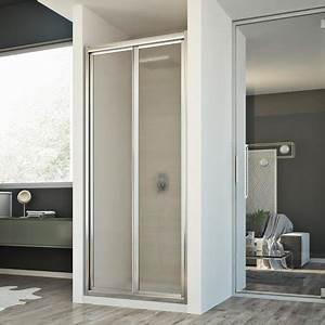 Porte paroi douche h198 mod urban 1 porte pliante opaque for Paroi douche porte pliante