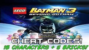 Lego Batman 3 Beyond Gothem Cheat Codes 18 Characters