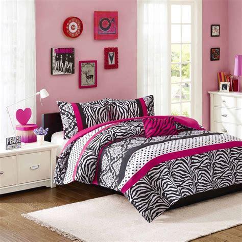 beautiful chic black pink purple polka dot zebra stripe comforter set ebay