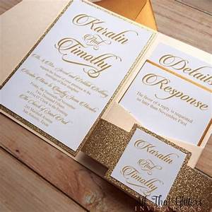 diy rose gold glitter wedding invitations gold 2570387 With diy wedding invitations with glitter