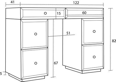 dimension bureau augusta bureau console miroir mobilier moss