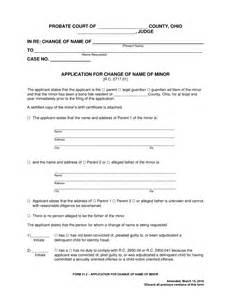 Court Order Name Change Form