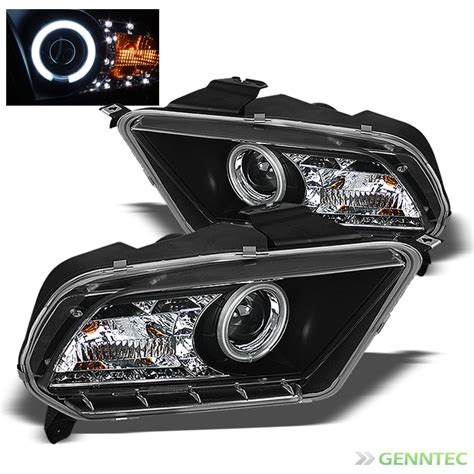 for 2010 2014 ford mustang ccfl halo led projector black headlights l lights ebay