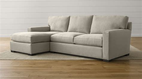 crate and barrel axis sofa with chaise axis ii grey fabric sectional sofa crate and barrel