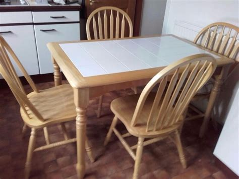 white kitchen table with 4 chairs white tile top pine kitchen table and 4 sturdy curved back