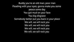 Queen - We will rock you lyrics - YouTube
