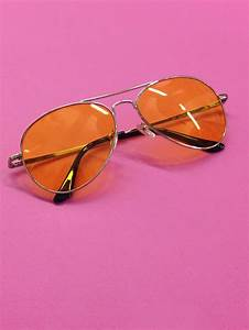 pale orange aviator sunglasses retro st cyr vintage