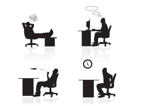 employ馥 de bureau employés de bureau 2 silouettes télécharger des vecteurs gratuitement