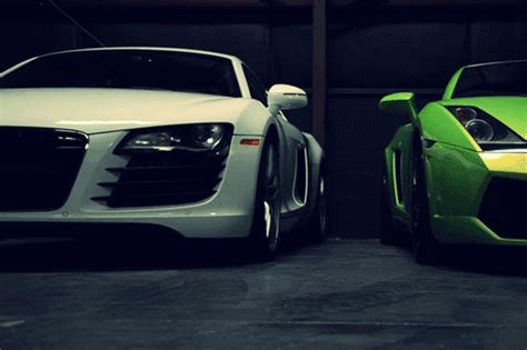 Gif Lights White Cars Green Audi Lamborghini Thirstyforswag •