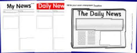 printable newspaper templates  sparklebox