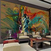 excellent abstract wall mural Custom Large Wall Mural Statue Of Liberty Photo Wallpaper ...