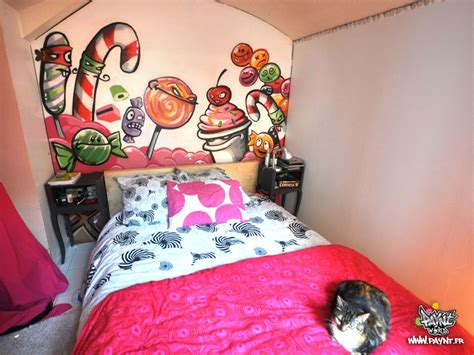 graffiti chambre decoration interieur bonbon